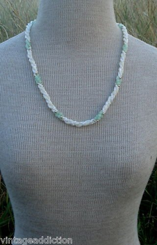 Vintage Twisted  Dual Tone Glass Necklace