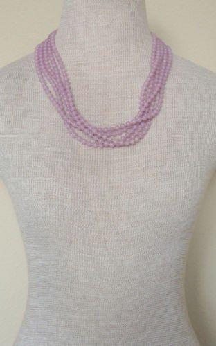 Vintage Purple Beads Multi Strands Necklace 1960s