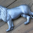 Unique Vintage Pewter Lion Pin/ Brooch