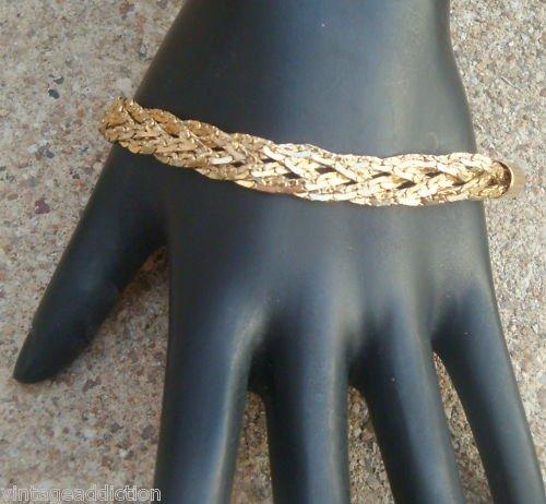 Glam Vintage Gold Tone Rope Chain Bracelet
