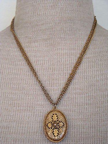 Vintage Antique Unique Pendant Double Chain Necklace