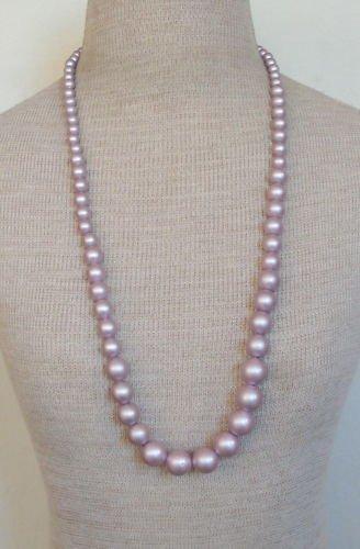 14)Vintage Purple  Ovesrsize Faux Pearl Necklace
