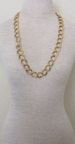 Vintage Chunky Double Linked Chain Necklace