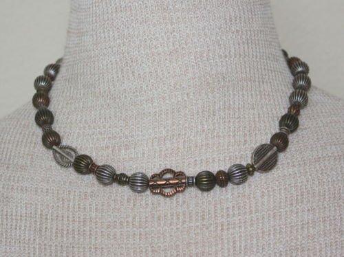 Vintage Unique Metal Beads Necklace