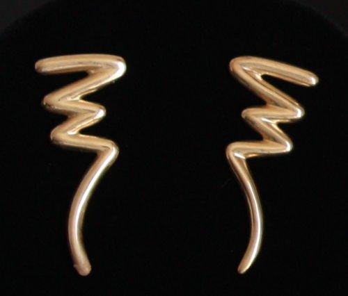 Vintage Modernist  Sterling Thailand Pierced Earrings