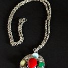 Vintage Multi  Stone Necklace/Pendant