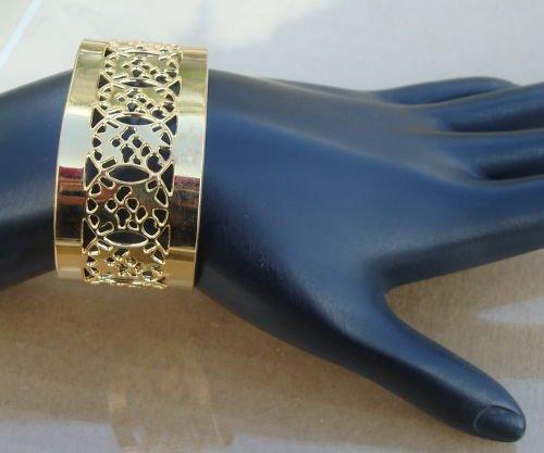 Vintage Gold Tone Unique Cuff Bracelet