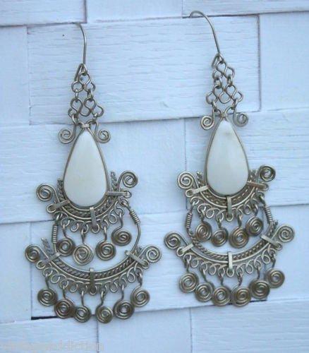 Vintage Art Deco Antique Chandelier Pierced Earrings