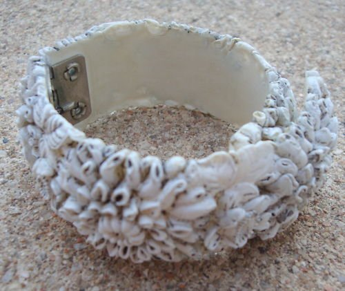 Vintage Molded Celluloid Clamper Wrap Around Bracelet