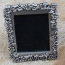Vintage Pewter Flower Photo Frame Pin Brooch
