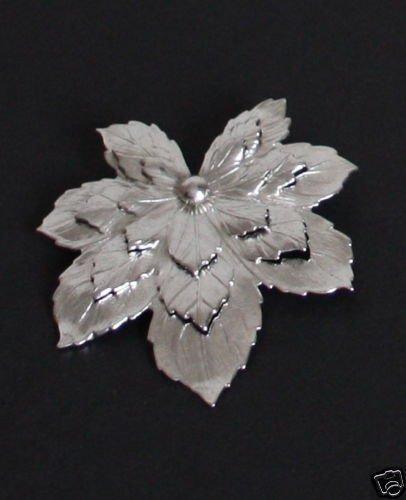 Vintage Sarah Cov Silver Leaf Beautiful Pin/Brooch