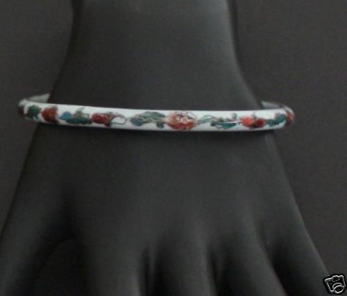 Vintage Cloisonne Ceramic Bangle Bracelet