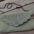 Vintage Gold Tone Satchel Beaded Purse