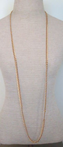"Vintage Gold Tone Chain 50"" Long Strand Necklace"