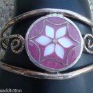 Vintage Purple Sterling Silver Cuff Bracelet