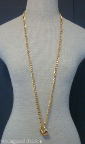 Chic Vintage Gold Chain Heart Shape Pendant Necklace