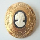 Cute Vintage Coro Cameo Pin/Brooch