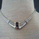 Vintage Modernist Purple Amethyst Chunky Necklace
