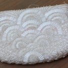 Vintage Hand Made White Beaded Purse