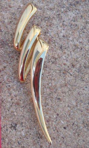 Vintage Golden Thunder Modernist Pin / Brooch