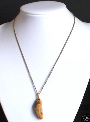 Vintage Brown Agate Gemstone Necklace/Pendant