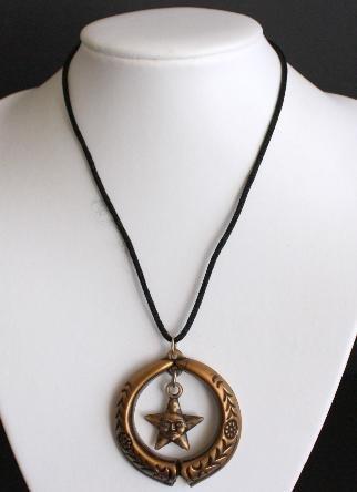 Vintage Moon Star Necklace/Pendant Artistic!