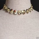 Vintage Golden Leaves Faux Pearl Choker Necklace