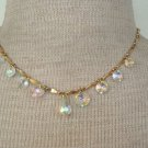 Dressy SAC Vintage Aurora Borealis  Drop Necklace