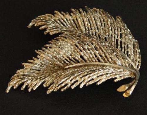 Unique Vintage Palm Leaf Pin/Brooch