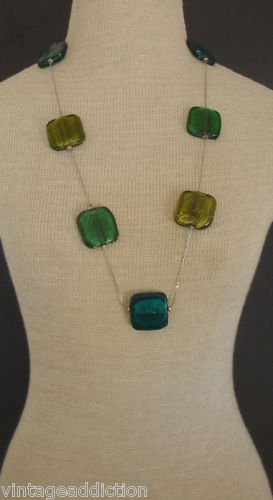 Vintage Chunky Colorful Glass Necklace