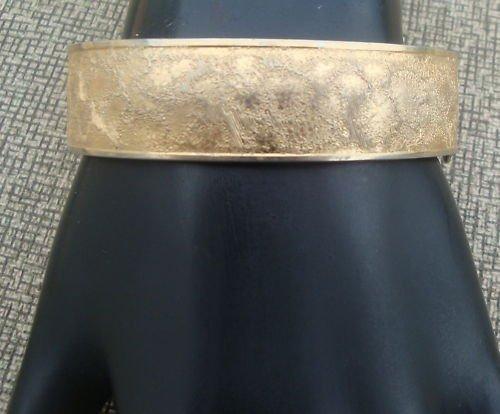 Vintage Art Deco  Gold Tone Hinged Older Bracelet