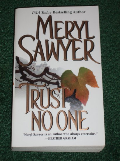 Trust No One by MERYL SAWYER Romantic Suspense 2000 Near New