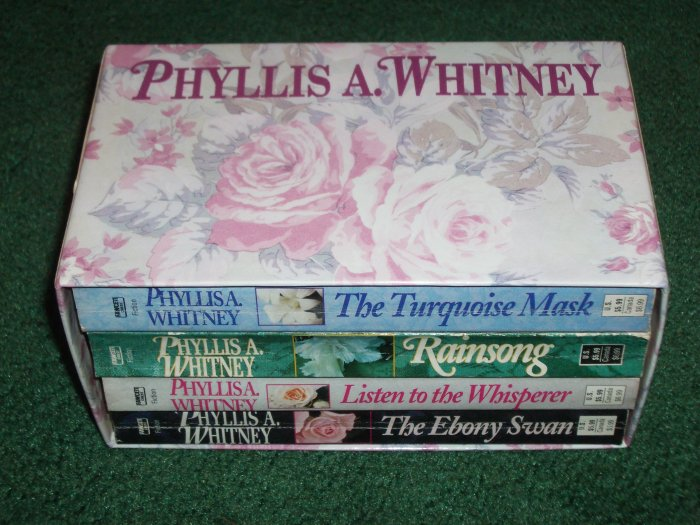 PHYLLIS A. WHITNEY Boxed Set of 4 MYSTERY + SUSPENSE. Turquoise Mask, Rainsong, The Ebony Swan