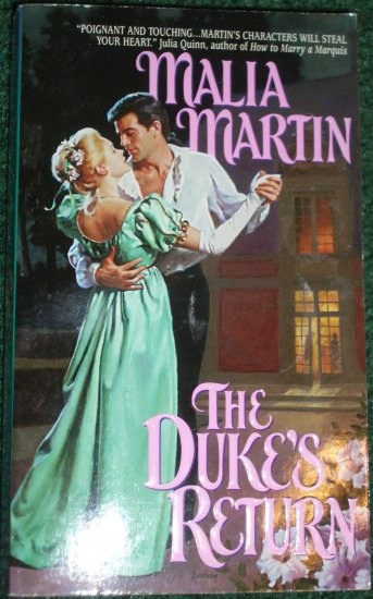 The Duke's Return by MALIA MARTIN Historical Regency Romance 1999