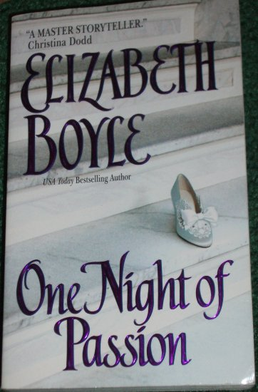 One Night of Passion by ELIZABETH BOYLE Historical Regency Romance 2002 Danvers Sister Series