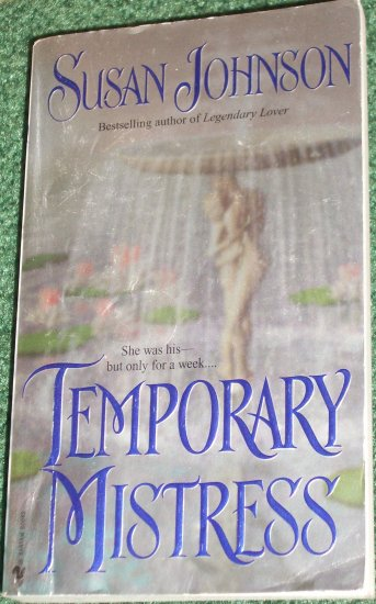 Temporary Mistress by SUSAN JOHNSON Historical Georgian Romance 2000