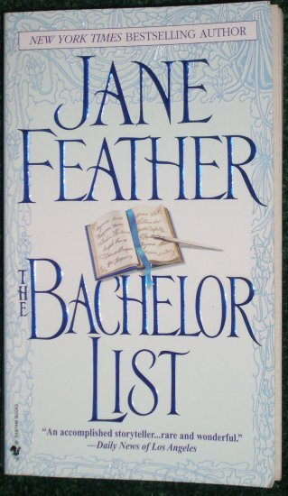 Bachelor List by JANE FEATHER Historical Turn of the Century Romance 2004 Duncan Sisters Series