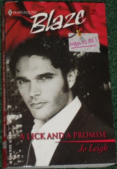 A Lick and a Promise by JO LEIGH Harlequin Blaze No 165 Jan05 Men To Do!