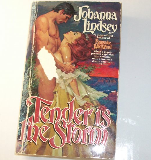 Tender is the Storm by JOHANNA LINDSEY Historical Western Romance Paperback 1985 Mail Order Bride