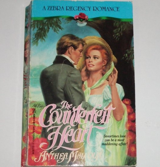 The Counterfeit Heart by ANTHEA MALCOLM Zebra Historical Regency Romance 1991