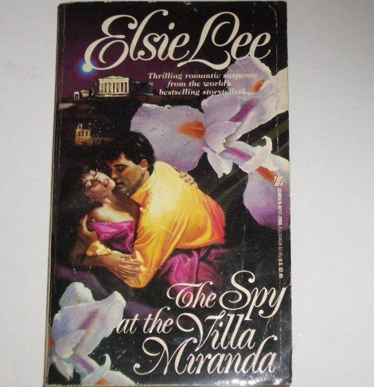 The Spy at the Villa Miranda by ELSIE LEE Romantic Suspense 1987