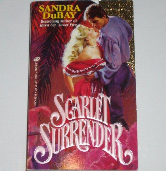 Scarlet Surrender by SANDRA DuBAY Historical Romance Paperback 1987