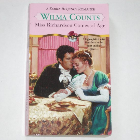 Miss Richardson Comes of Age by WILMA COUNTS Zebra Regency Romance Paperback 2001
