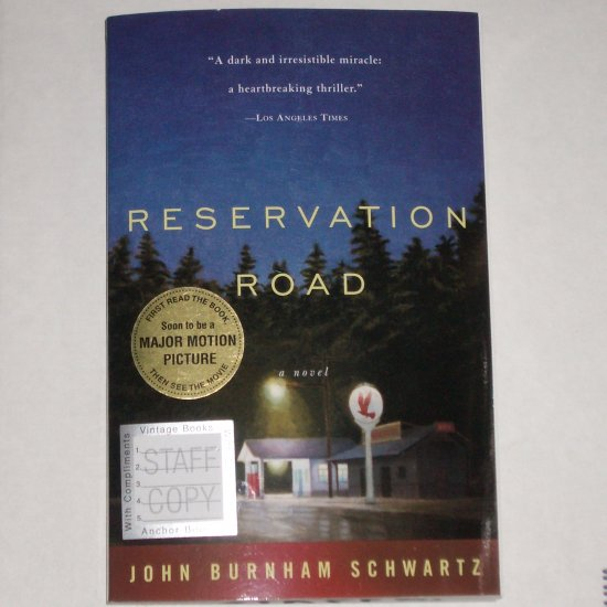 ARC Reservation Road by JOHN BURNHAM SCHWARTZ Advance Reading Copy Thriller