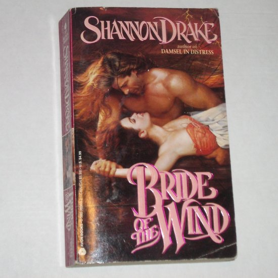 Bride of the Wind by SHANNON DRAKE Historical Pirate Romance Paperback 1992