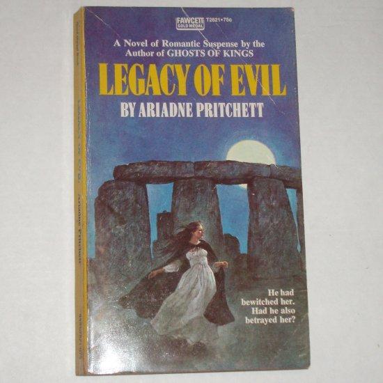 Legacy of Evil by ARIADNE PRITCHETT Vintage Gothic Romance 1973