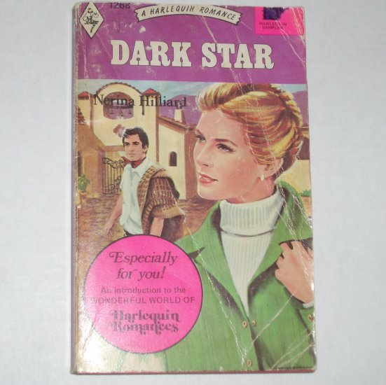 Dark Star by NERINA HILLIARD Vintage Harlequin Romance#1268  1973