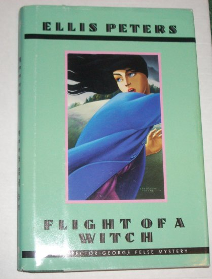 Flight of a Witch by ELLIS PETERS An Inspector George Felse Cozy Mystery Hardcover DJ Large Print