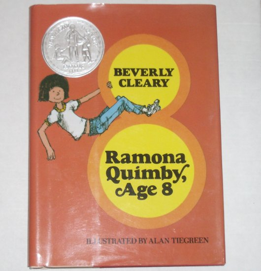 Ramona Quimby, Age 8 by BEVERLY CLEARY Newbery Honor Book Hardcover Dustjacket 1981