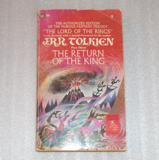 The Return of the King by J R R TOLKIEN Lord of the Rings Book 3 1966